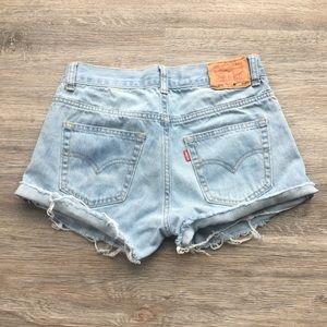 505 vintage Levi shorts